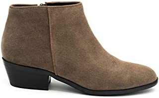 Grey City Riley Ankle Boot with Round Toe   Inside Zip...