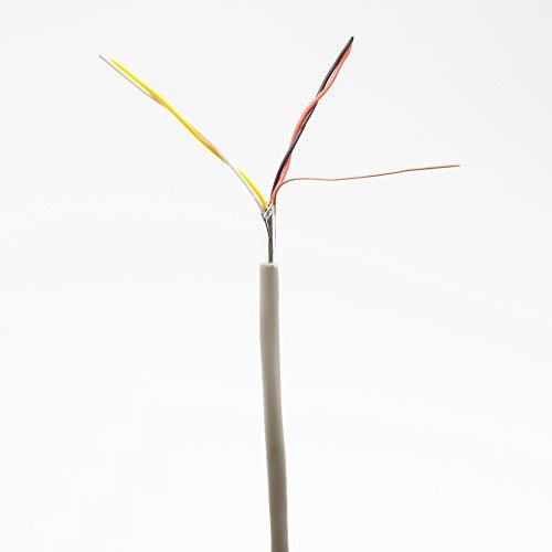 Telefonkabel 2x2x0,6mm J-Y(ST) Y 50m rund für Unterputzmontage, Fernmelde-Installationsleitung 4-adrig