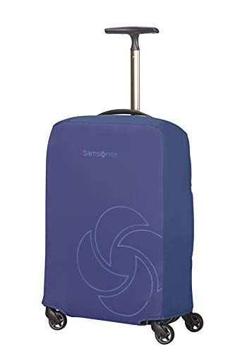 Samsonite Global Travel Accessories Foldable Luggage Cover S, Blue (Midnight Blue)