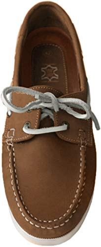 Beverley Originals Herren Leder Bootsschuh Men's Casual Skipper, Farbe:braun, Größe:42 EU
