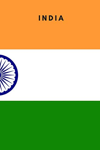 India: Country Flag A5 Notebook to write in with 120 pages