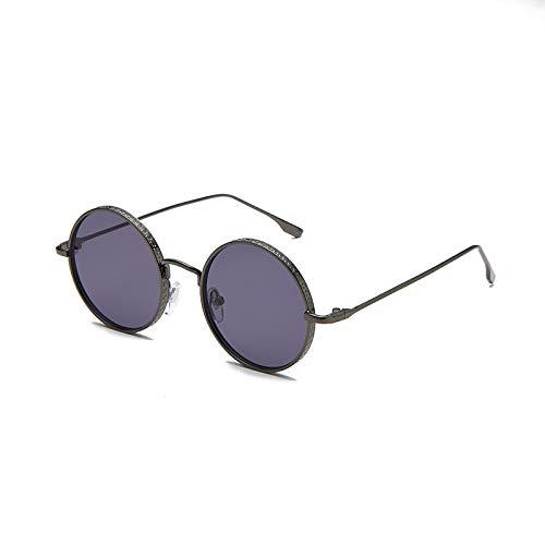 Sunglasses Gafas de Sol de Moda Gafas De Sol Redondas Pequeñas Retro Clásicas Hombres Mujeres Vintage Negro Rojo Marrón