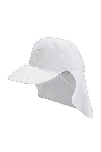 Coolibar Mädchen Sonnenkappe UV-Schutz 50+ Sonnenhut, Weiß, L/XL/57CM