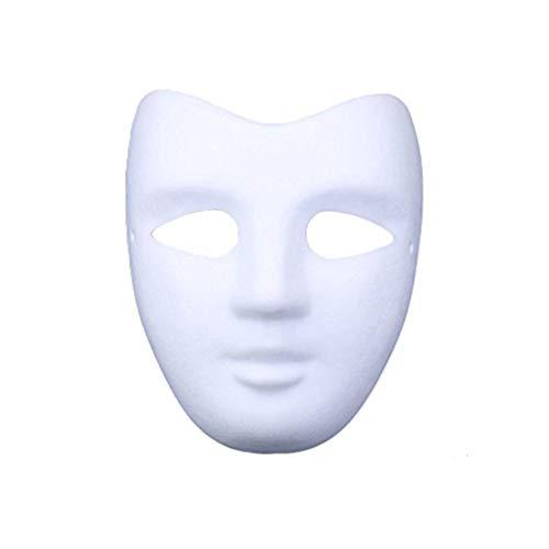 Meimask DIY Weiße Maske Zellstoff Blank Handgemalte Maske Persönlichkeit Kreative Freie Design Maske Weiß 10 stücke(V Gesicht)