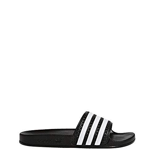 adidas Originals BA7130 Boys' Adilette J Sandal, Black/White/Black, 3 M US Little Kid
