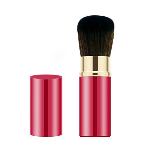 Pinceau En Poudre Lâche Pinceau De Maquillage Portable Rétractable Ensemble Maquillage Ombre Surbrillance Brosse Pinceau Blush, 02 Chine Rouge
