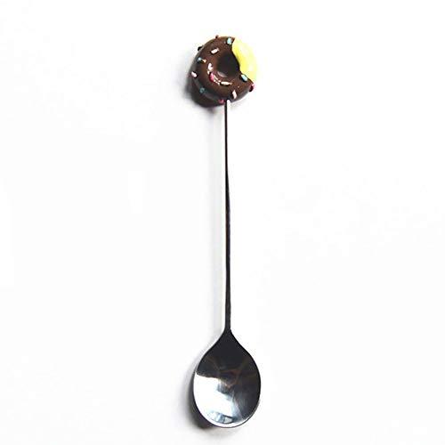 Donut Löffel/Gabel, Multifunktionale Eiscreme Candy Cartoon Edelstahl Salsa Gabel, kleine süße Zucker Kuchen Brot Gabeln, Safe Baby Kids Geschirr Dessert Obst Küchengeräte