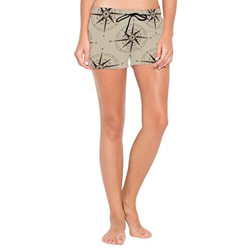 Pantalones Cortos de natación para Mujer, brújula de navegación náutica, Pantalones...