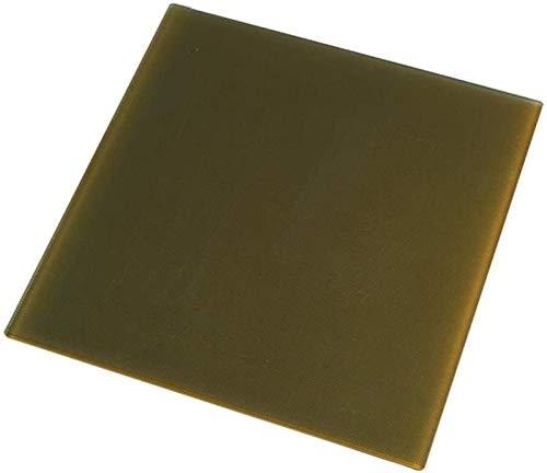 Partes de la impresora 3D 235 * 235mm Plataforma de cristal de cristal de silicona de carbono actualizada Creación Plataforma de vidrio con calefacción con calentamiento para accesorios para impresora