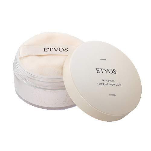 ETVOS(エトヴォス) ミネラルルーセントパウダー 8g パフ付 セミマット 仕上げ ルース フェイスパウダー 化粧崩れ テカリ 防止 皮脂吸収