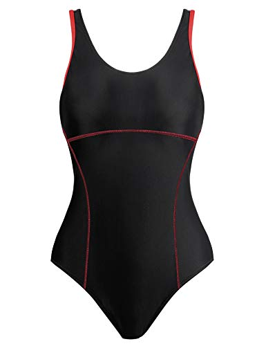 Womens Racerback One/1 Piece Swimsuit/Bathing/Swimming/Swim Suit/Swimwear(Black,Large)