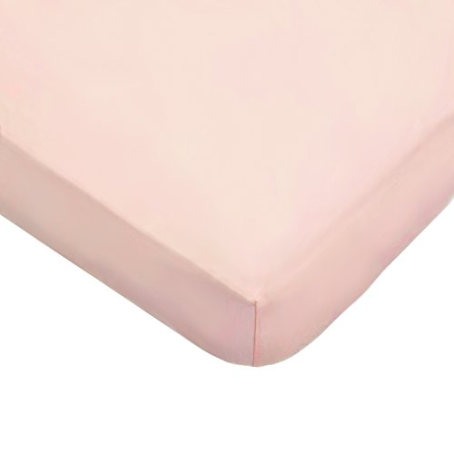 American Baby Company 100% Natural Cotton Jersey Knit Fitted Portable/Mini-Crib Sheet, Blush, Soft Breathable, for Girls, Pack of 1