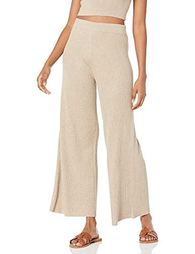 The Drop Women's Catalina Pull-On Rib Sweater Pant, Heather Sand, XXS
