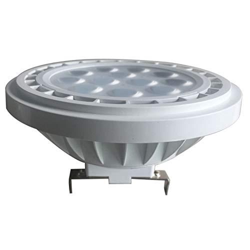 ZZQQ Bombillas LED CE ROHS AR111 12V 15W GU10 focos lámpara AR111 G53 3030SMD de Riesgo Bombillas de iluminación (Size : Cold White 6000K)