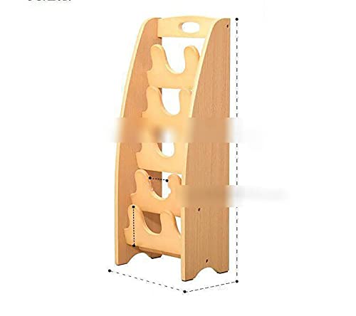 WWWFZS Zapatero Zapatero de Madera de Varias Capas Puerta Creativo Moderno Simple Sandalias y Zapatillas Caja de Zapatos Simple para el hogar(Color:Color: Wood Color)