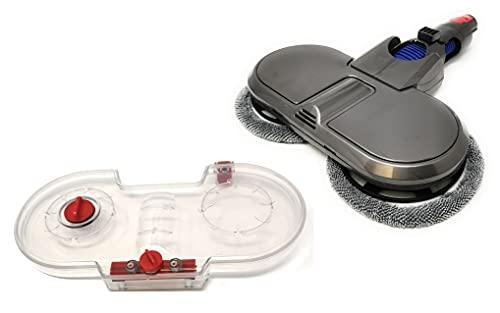 Kniwelshop Mopa eléctrica Vario+160 con depósito y cepillo pulidora compatible con Dyson V7, V8, V10, V11, V15 (Vario+ Mopp)