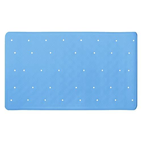 ANSIO Alfombrilla de baño Bañera Antideslizante Antimoho Alfombrilla de Ducha de Goma con Orificios de Drenaje y ventosas Lavable a máquina 40 x 70 cm / 15,8 x 27,7 Pulgadas - Azul