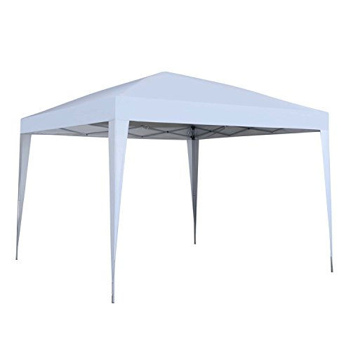 Outdoor Basic 10 x 10 ft Pop-Up Canopy Tent Gazebo for Beach Tailgating Party White