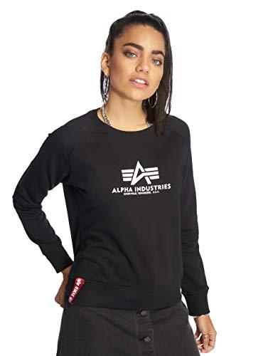 ALPHA INDUSTRIES Damen New Basic Sweater Wmn Sweatshirt, Black, S