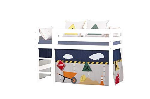 Hoppekids Construction Vorhänge für Halbhohes und Etagenbett, Baumwolle, Konstruktion, 70 x 160 cm