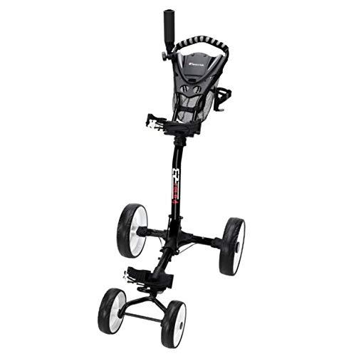 Golf Gifts & Gallery Golf EZ-Fold 4-Wheeled Black Pull Cart New