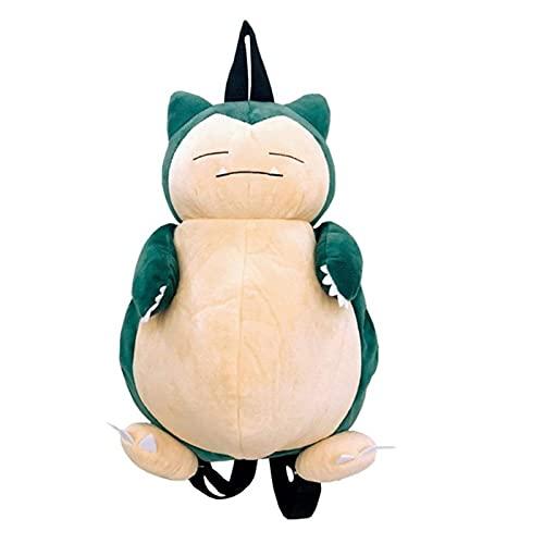 YEE Mochila de peluche con diseño de animales de peluche para Toddles – Mochila grande Snorlax de felpa multifunción Cosplay Figuras de anime Pikachu Snorlax Doll Bolsa de hombro para niño