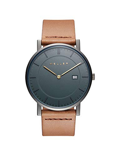 Meller Unisex Erwachsene Analog Quarz Uhr mit Leder Armband 1G-1CAMEL