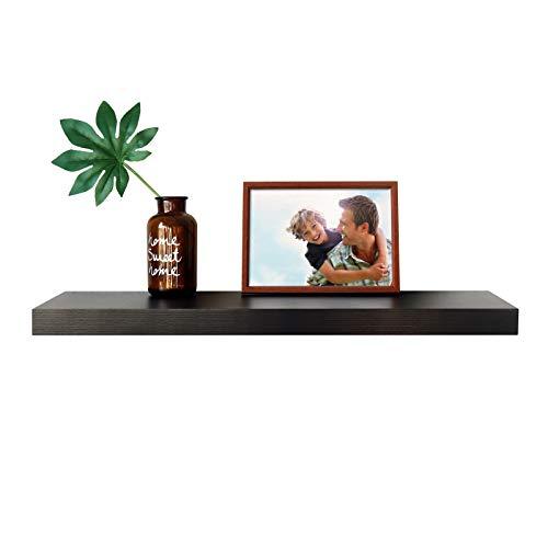"WELLAND 12"" Deep Espresso Floating Shelf, Wall Shelf Display Floating Shelf, 35.43"" L x 11.81"" D x 2"" T, Deeper Than Others, Espresso"