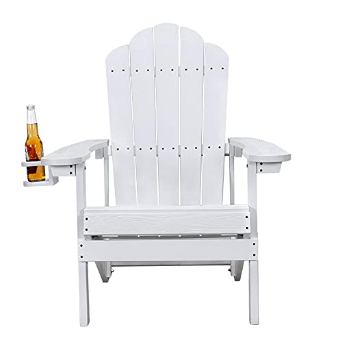 Petybety Adirondack Chair Weather Resistant with Cup Holder,...