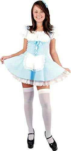 Forever Young Ladies Alice in Wonderland Costume Dorothy Fairytale Halloween Fancy Dress Taglia 38