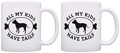 Pitbull Gifts for Women All My Kids Have Tails Pitbull Themed Gifts for Women All My Kids Have Tails Pitbull, Taza de café