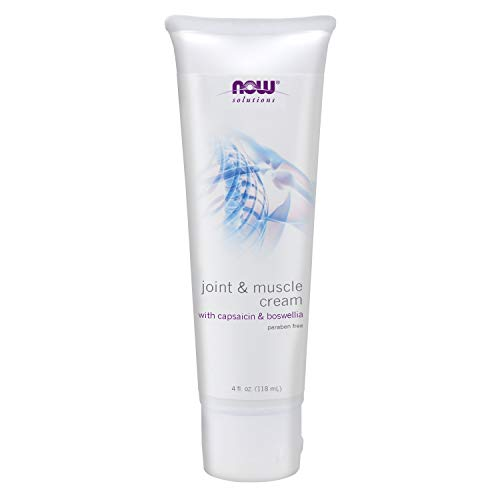 NOW Solutions, Joint & Muscle Cream with Capsaicin and Boswellia, Paraben Free, 4-Ounce