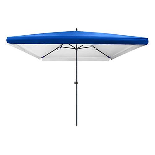 JJSFJH Paraguas de Playa, Sombra de Sol Cuadrada sombrilla de jardín 200 x 200 cm, sombrilla UV, Disponible en el jardín al Aire Libre Parasol Market