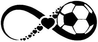 Vinyl Aufkleber mit Unendlichkeitssymbol Herzen, für Autos, Lastwagen, Wände, Laptops, 19 x 8,1 cm, DUC310