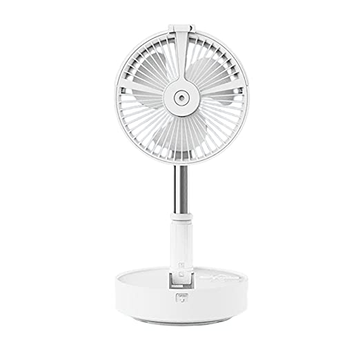 GAOYUAN USB Shaking Head Remote Control Folding Fan, Portable Air Circulation Desktop Humidification, Rechargeable Retractable Fan, Suitable for Office, Outdoor Camping