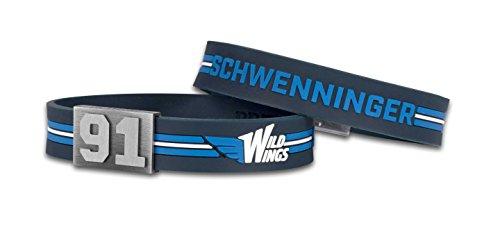 BRAYCE® Schwenninger Wild Wings Armband mit Deiner Trikot Nummer 00-99 I Eishockey pur mit dem Wildwings Trikot am Handgelenk personalisierbar & handgemacht