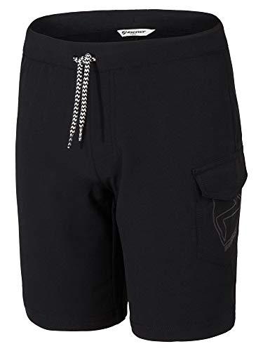 Ziener Kinder NISAKI X-Function Fahrrad-Shorts/Rad-Hose Mit Innenhose/Mountainbike-Atmungsaktiv|schnelltrocknend|gepolstert, Black, 164