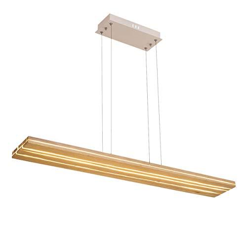 Azanaz LED Hängelampe Perfekt über dem Esstisch Pendelleuchte holz Edles Design Pendellampe als Regal verwendbar höhenverstellbar Deckenleuchte für esszimmer, Arbeitszimmer, Küche, Büro