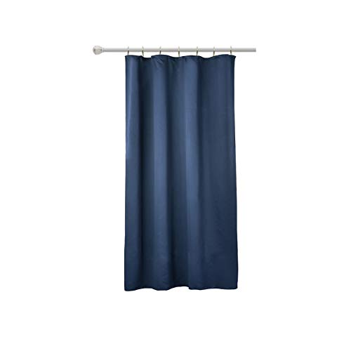 WOLTU VH5870dbl, Vorhang Gardinen Blickdicht mit kräuselband für schiene, Leichter & weicher Verdunklungsvorhang für Wohnzimmer Schlafzimmer, 135x175 cm Dunkelblau, (1 Stück)