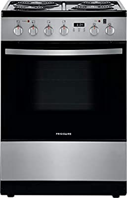 Frigidaire 24 in. 1.9 Cu. Ft. Electric Range in Stainless Steel with Hidden Bake, ADA Compliant