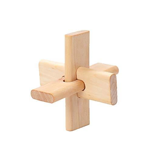 TREESTAR Jouet en Bois pour Enfants de Plus de 1 Ans Enfants Éducatif Apprentissage Édifice Building Block Sorting Toys Démontage et Assemblage 3.5 in