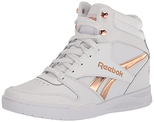 Reebok Women\'s BB4500 HI 2 Sneaker, White/Rose Gold, 6