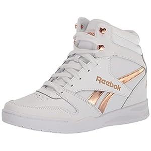 Reebok Women's BB4500 HI 2 Sneaker, Wedge Heel White/Rose Gold, 6