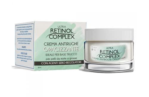 Crema Antiarrugas Matificante Ideal para base de maquillaje, Crema Anti-Arrugas para piel mixta o grasa