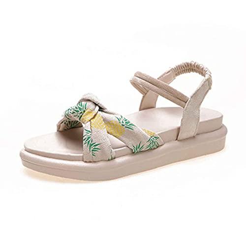 Zapato de Punta Descubierta Mujer Verano Stretch Sandal Casual Elegante Roma Zapato Exterior Senderismo Plataforma Sandals Antideslizante Respirable Shoes para Estudiante,jardín,Fiesta,Pool