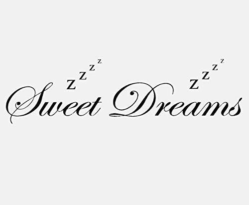 Lovely Sweet Dreams - Adhesivo inspirador para pared, diseño de palabras de PVC