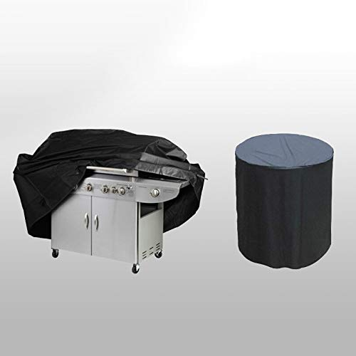 SDSA Garden Furniture Cover, Outdoor Round Rectangular Grill Cover, Waterproof And Dustproof Cover