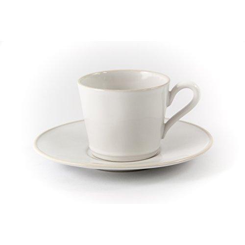 Costa Nova Gedeck/Kaffee/Tee 2-teilig/Ober- und Untertasse Astoria, weiß, 0,18 l