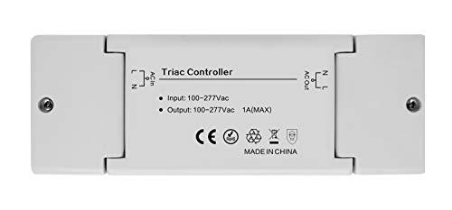 230V Controller Treiber Dimmer Dimmaktor ZIGBEE, kompatibel mit Philipps HUE, Osram Lightify® und IKEA TRÅDFRI®, per Smartphone schalten und dimmen