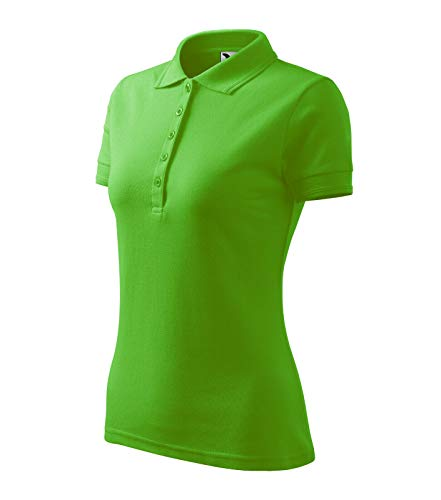 Adler Poloshirt Shirt Polohemd für Damen Pique Polo Größe und Farbe wählbar - (M, apfelgrün)